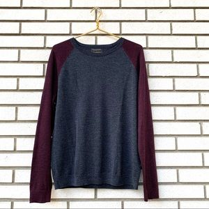 Banana Republic Colorblock Merino Wool Sweater